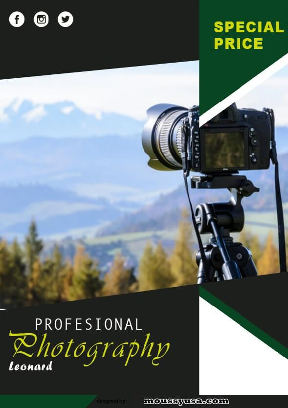 psd template for commercial photography flyer