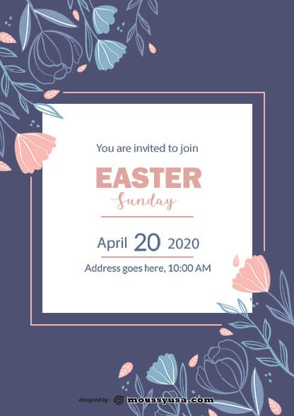 psd template for free easter sunday celebration flyer