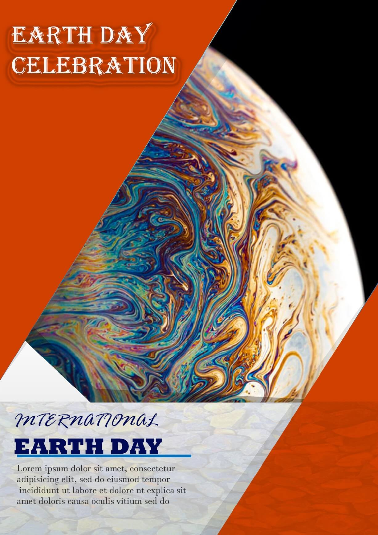 psd template for international earth day flayer