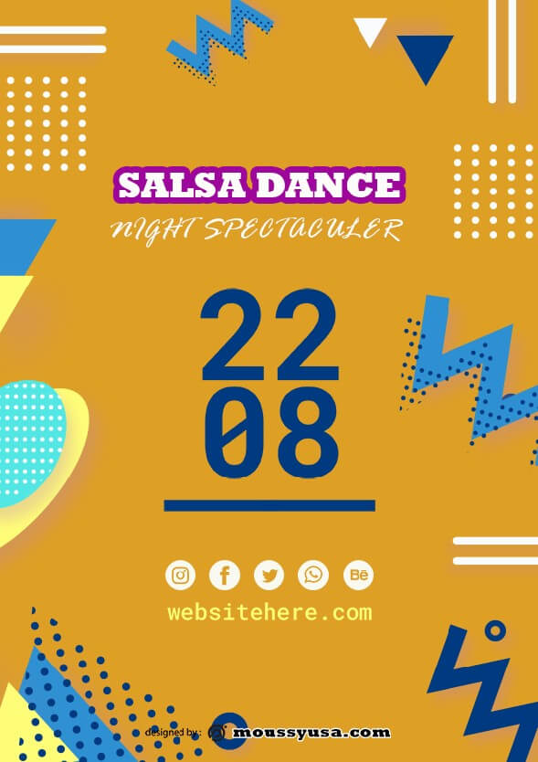 psd template for salsa flyer