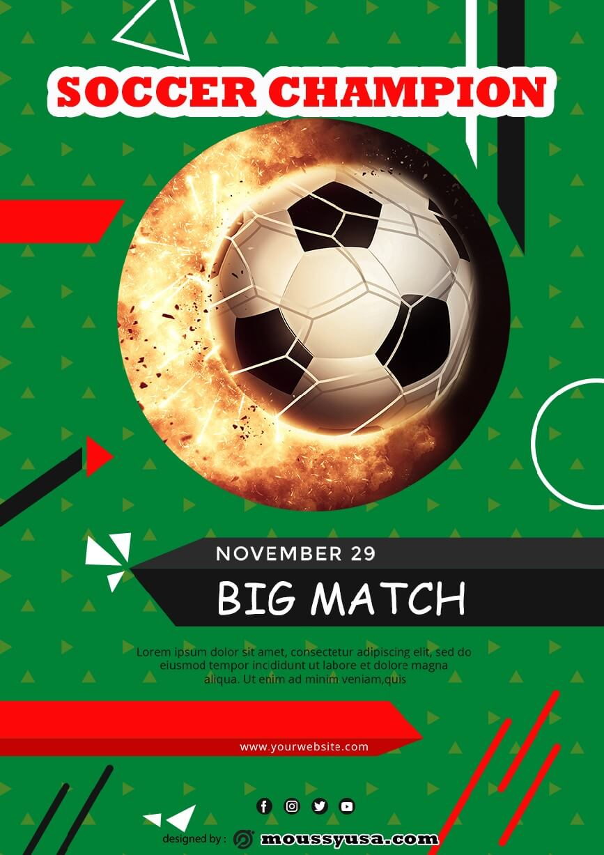psd template for soccer game flayer