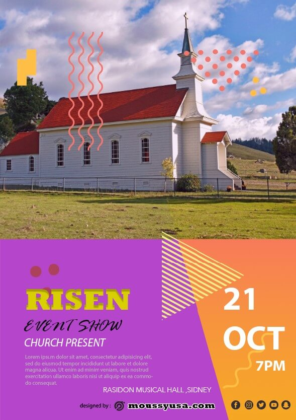 risen church flayer template ideas