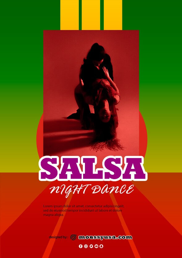 salsa flyer design template
