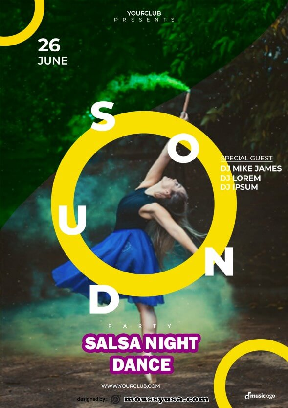 salsa flyer template design