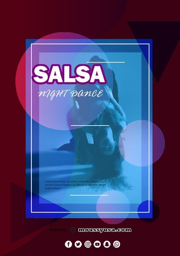 salsa flyer template example