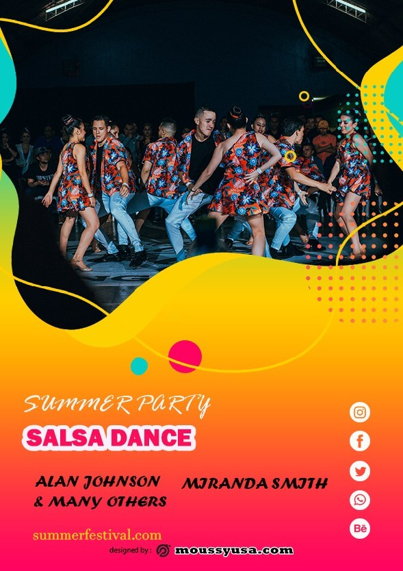 salsa flyer template ideas