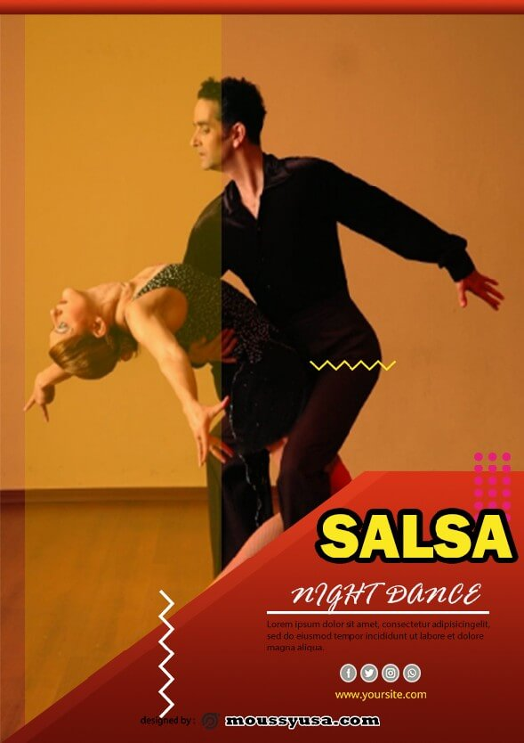 salsa flyer template sample