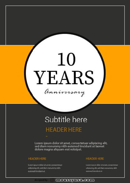 sample Anniversary Flyer templates