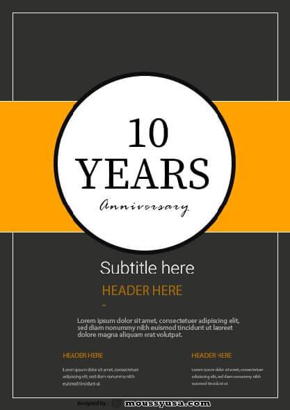 sample Anniversary Flyer templates
