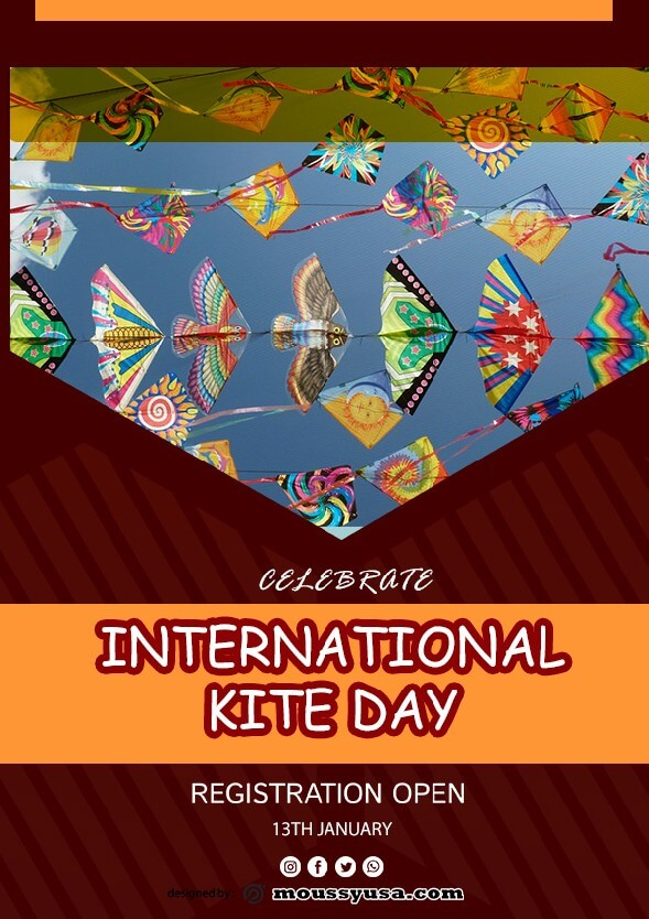 sample Free International Kites Day Flyer templates