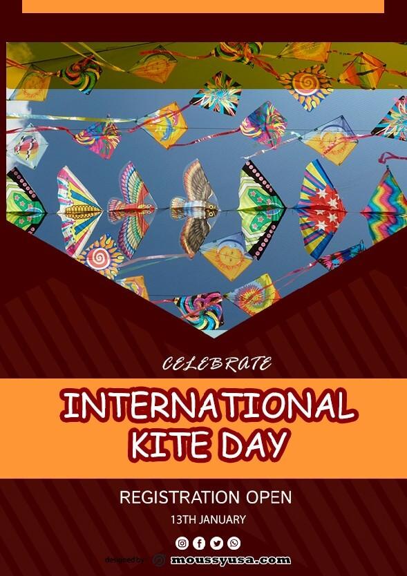 sample Free International Kites Day Flyer templates