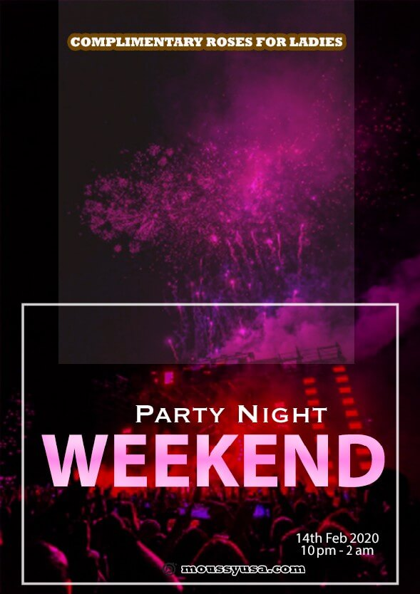 sample Weekend Night Party Flyer templates