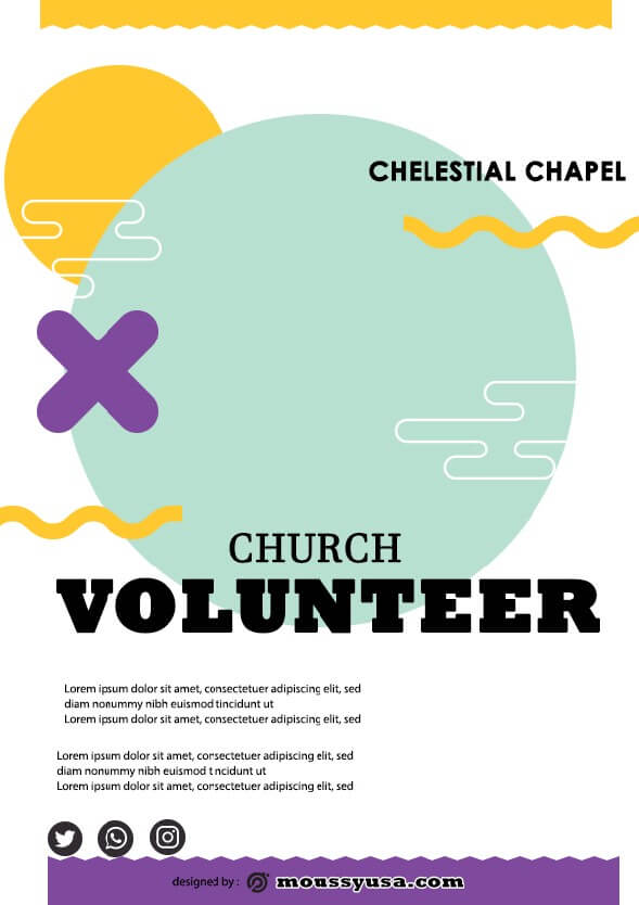 sample church volunteer flyer templates
