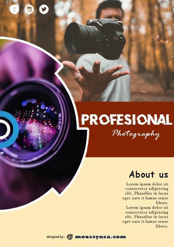 sample commercial photography flyer templates
