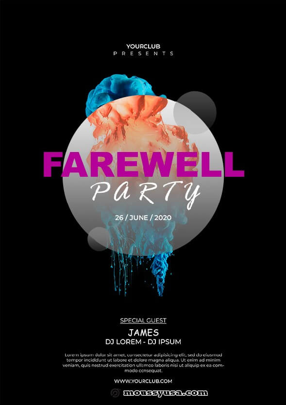 sample farewell party flyer templates