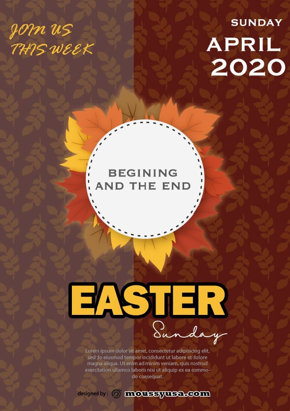 sample free easter sunday celebration flyer templates