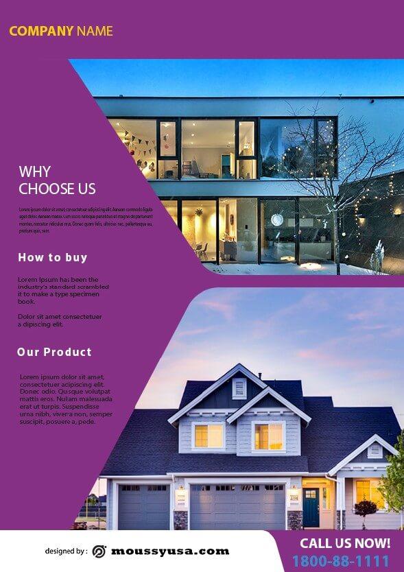 simple open house flyer design ideas