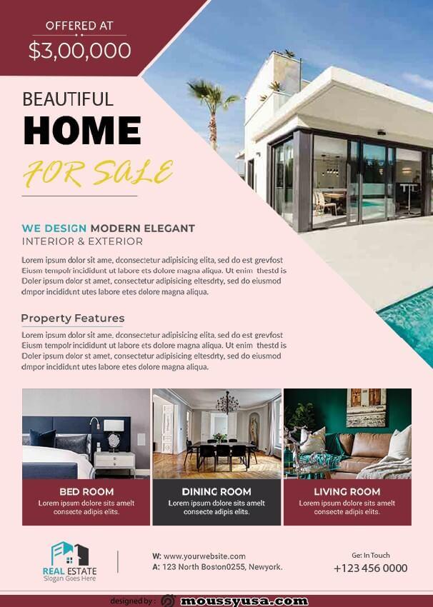 simple open house flyer design psd