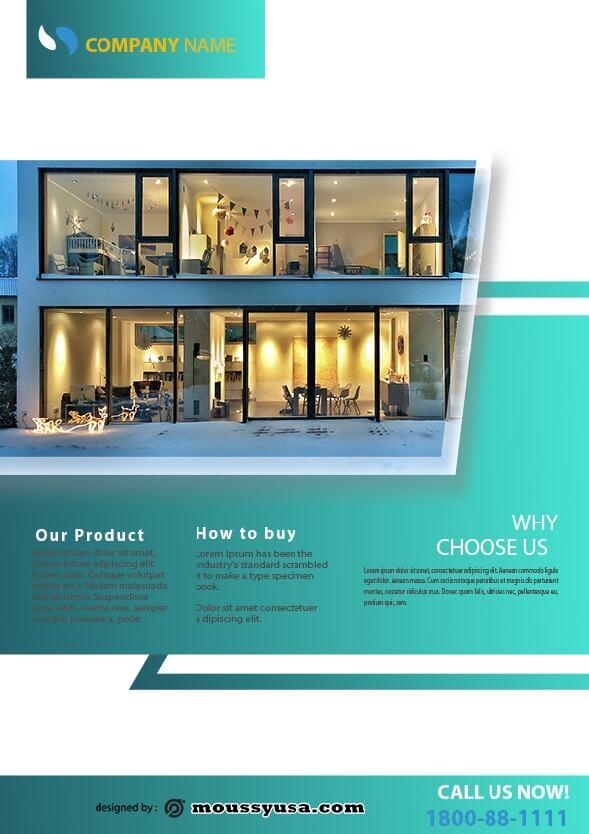 simple open house flyer design template