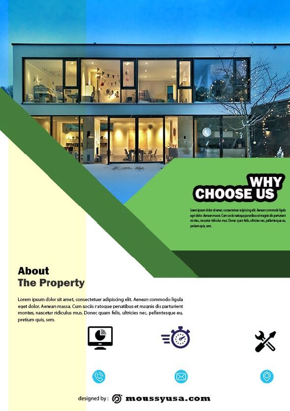 simple open house flyer template design