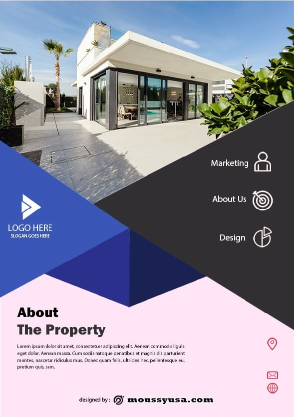 simple open house flyer template ideas
