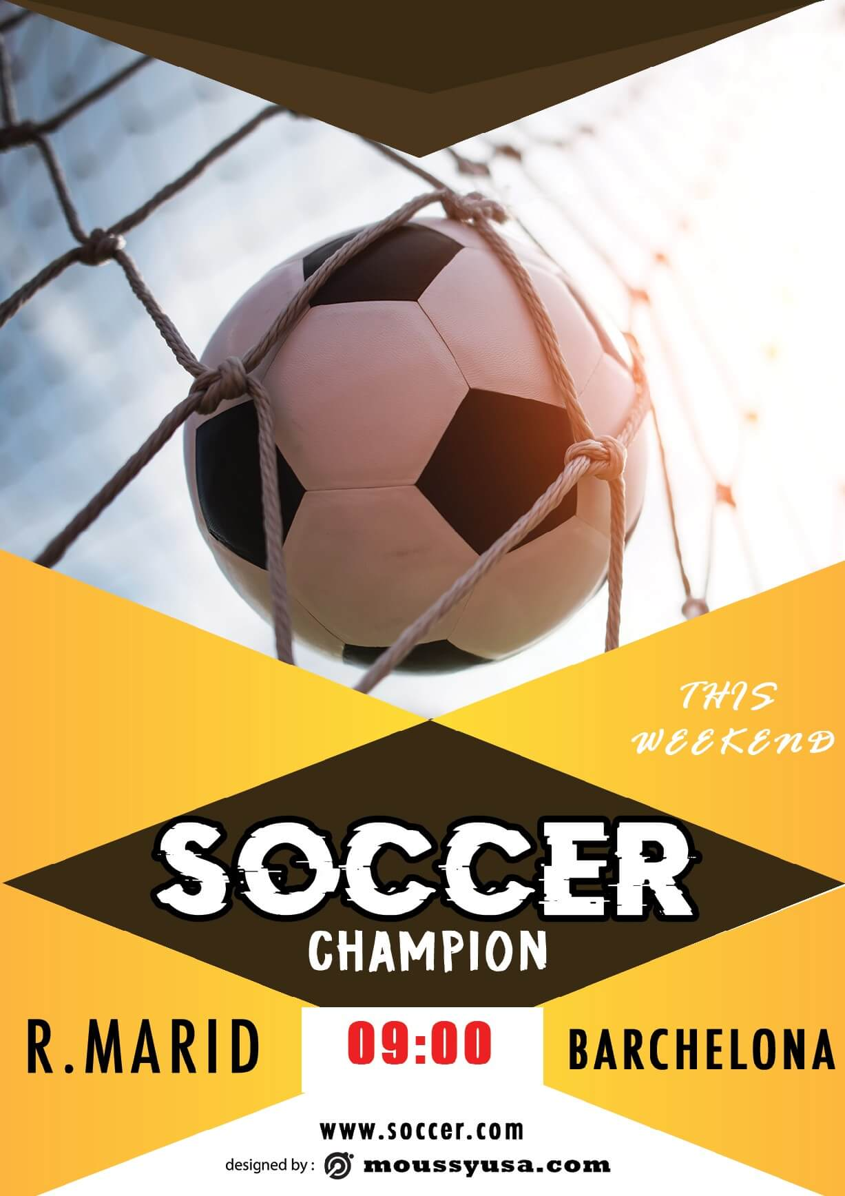 soccer game flayer template sample