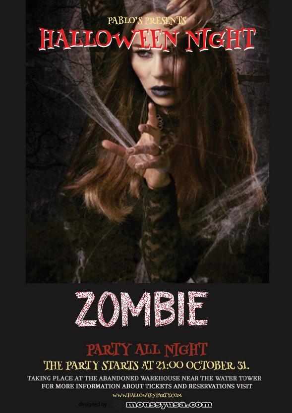 zombie halloween flayer template ideas