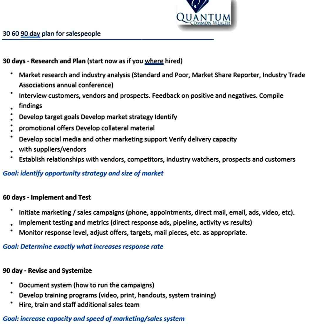 Templates Day Plan For Sales