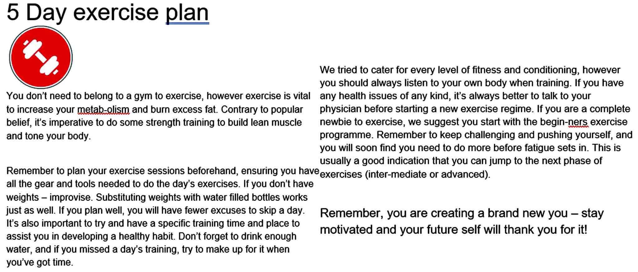 Templates day exercis