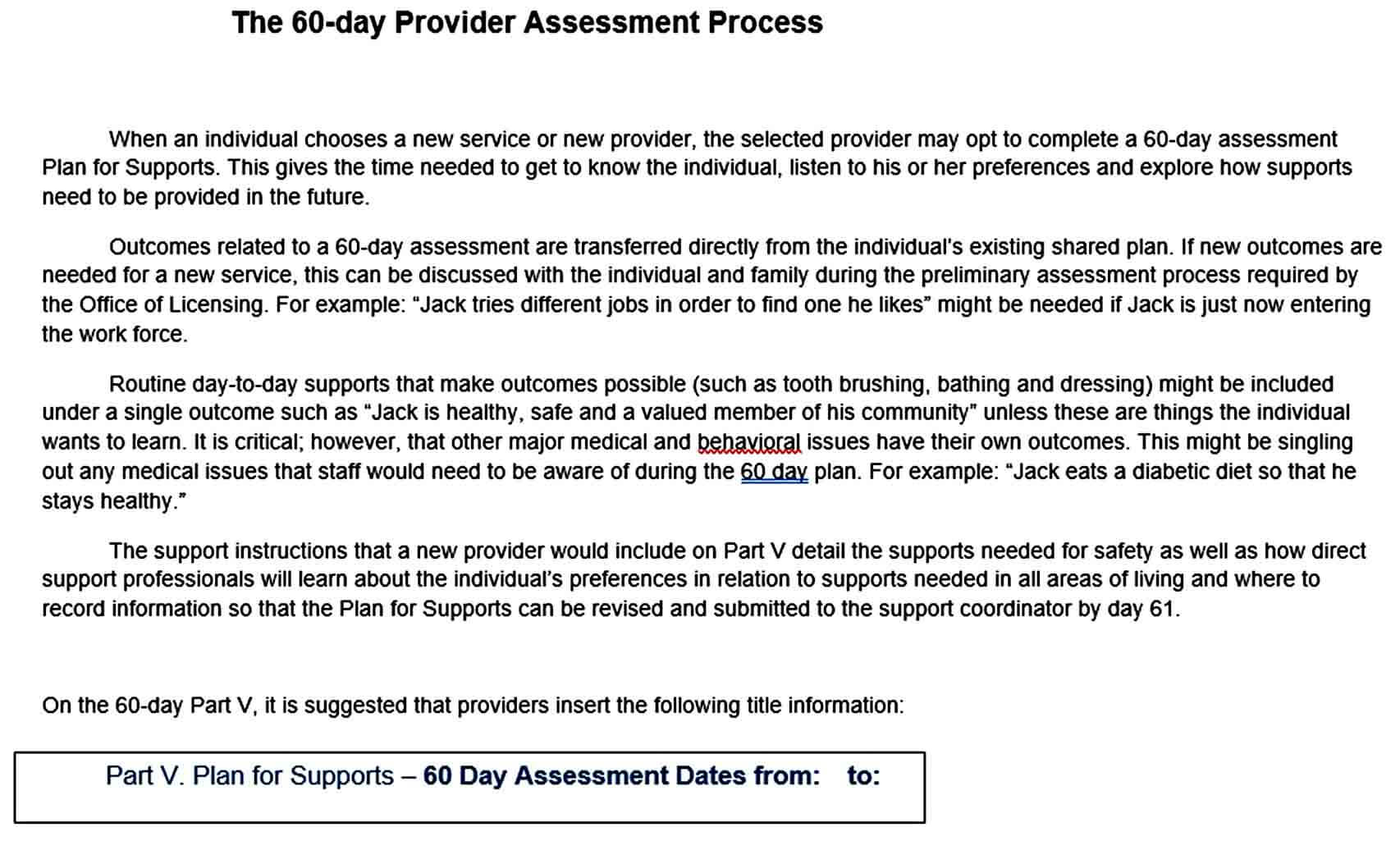 Templates Day Diet Assessment Plan P