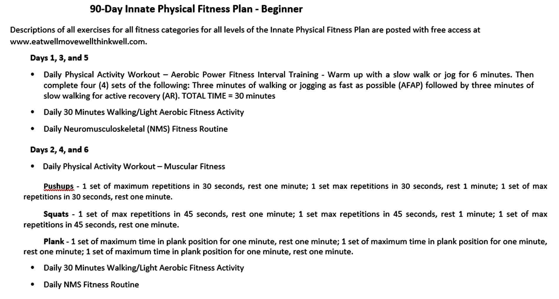 Templates Day Innate Physical Fitnes