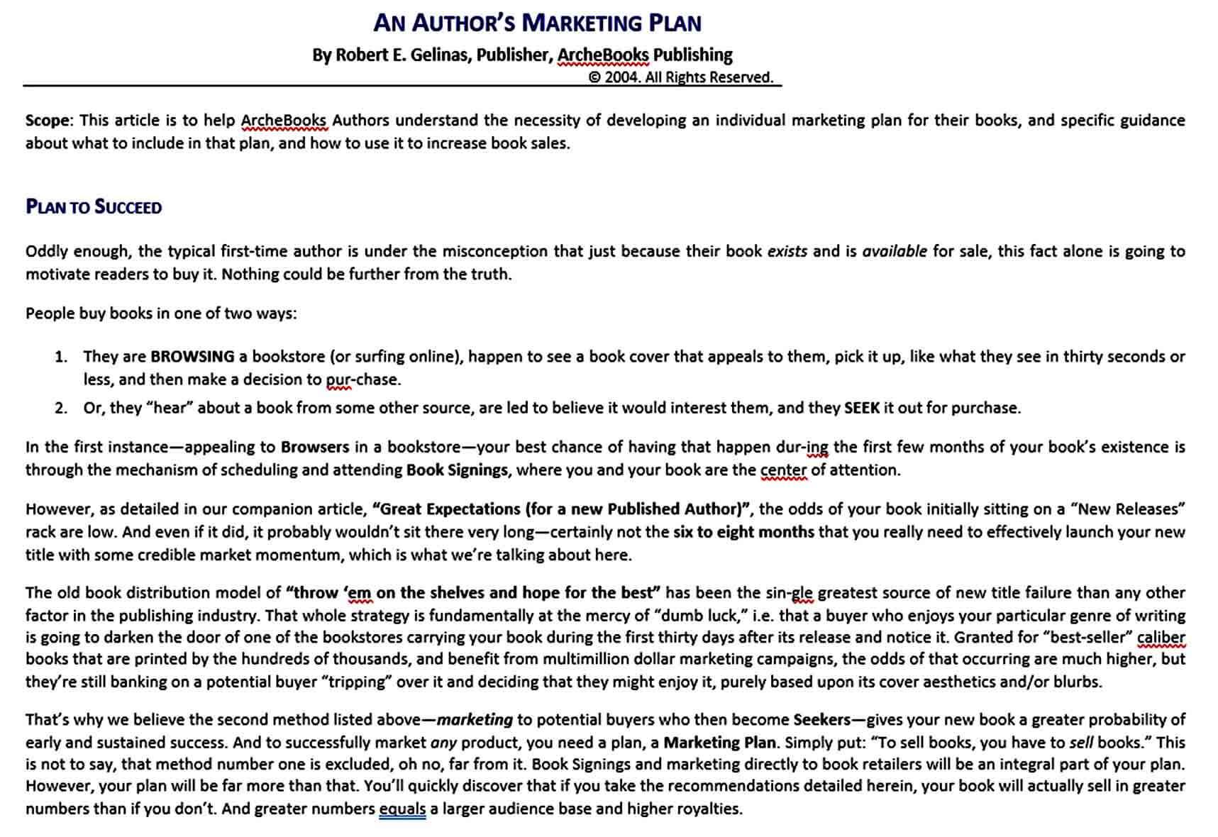 Templates Authors marketin
