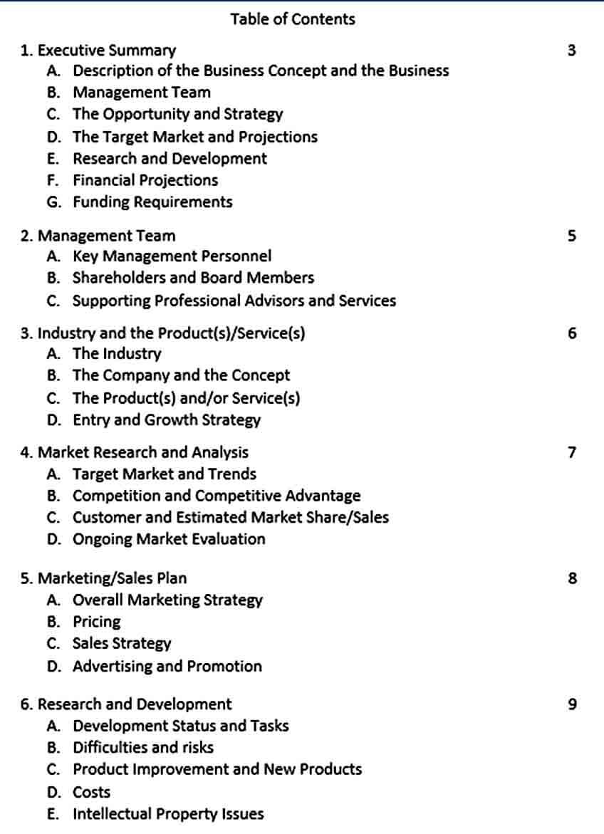 Templates Basic Company Business Plan Te