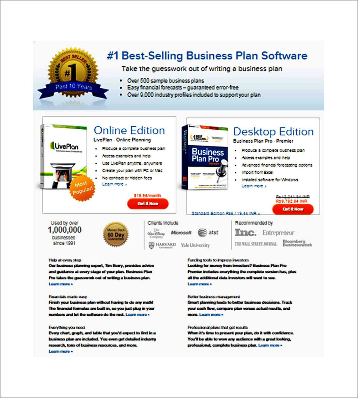 Templates Best Selling Business plan So