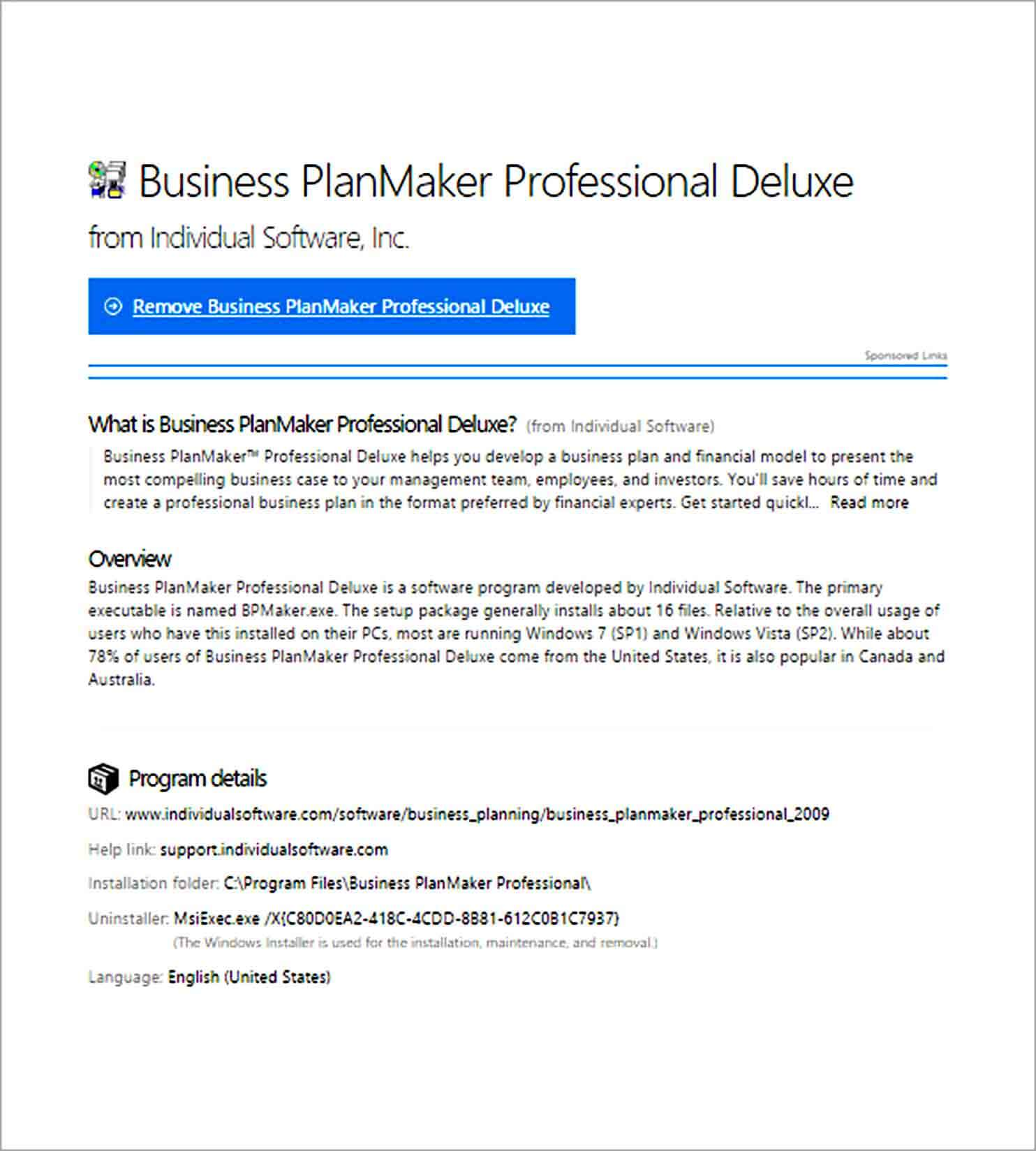 Templates Business PlanMaker Professional Deluxe So