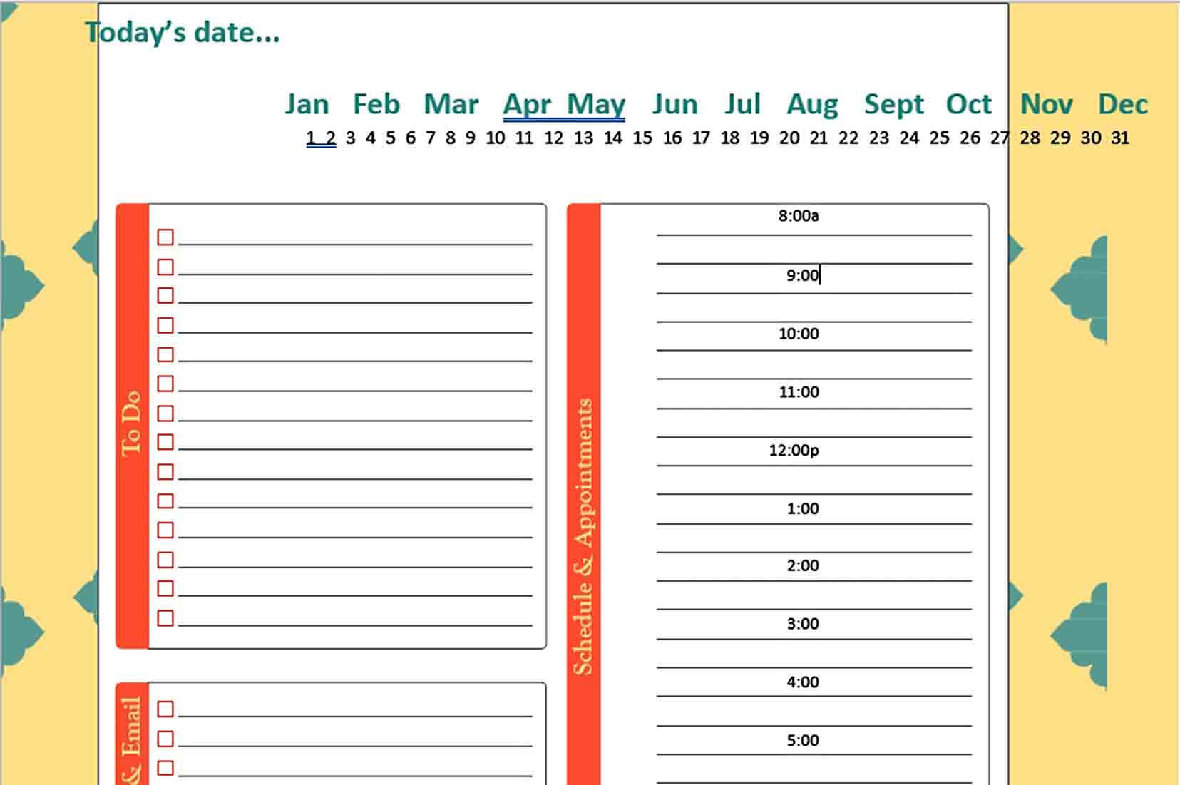 Templates Daily Schedule Planner Tem