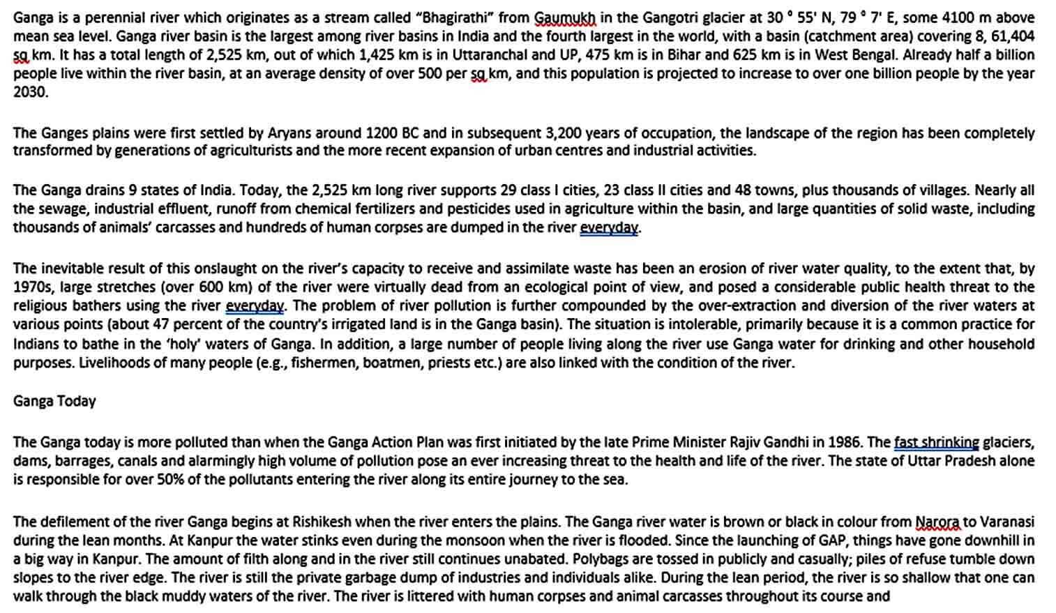 Templates Ganga Action Plan Template PDF Do