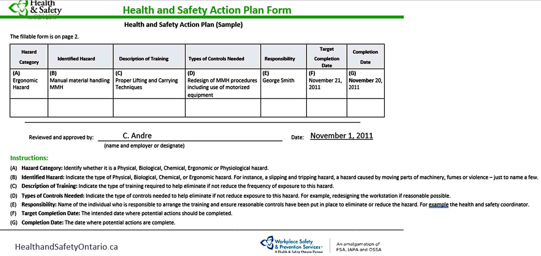 Templates HealtH and Safety Action Pla