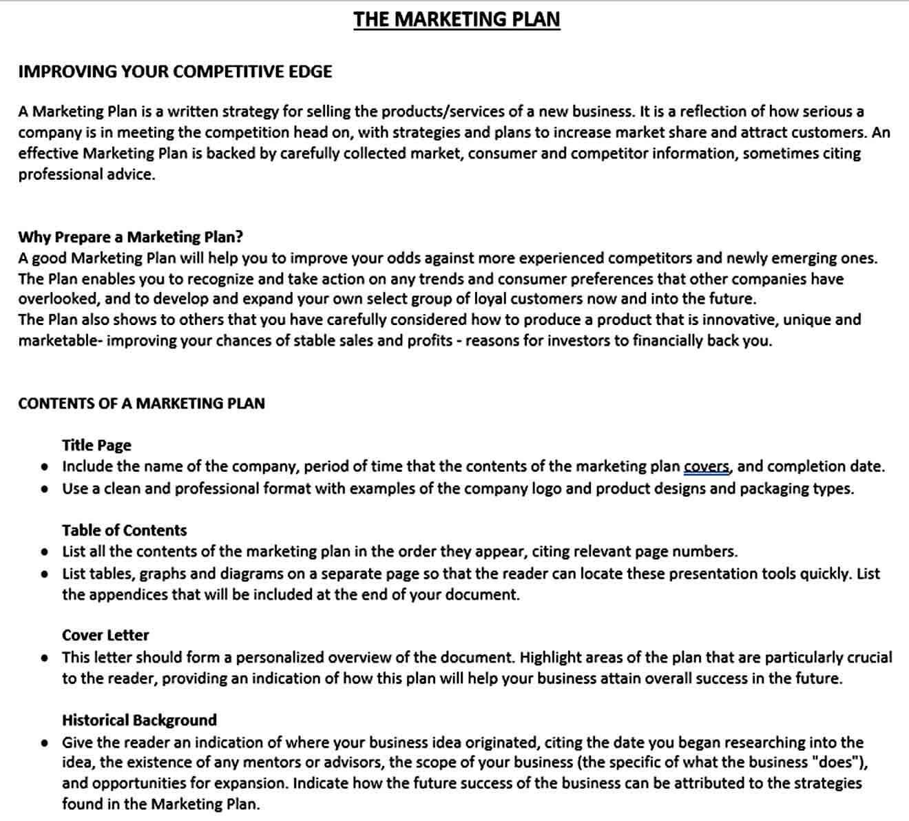 Templates Marketing Plan Te