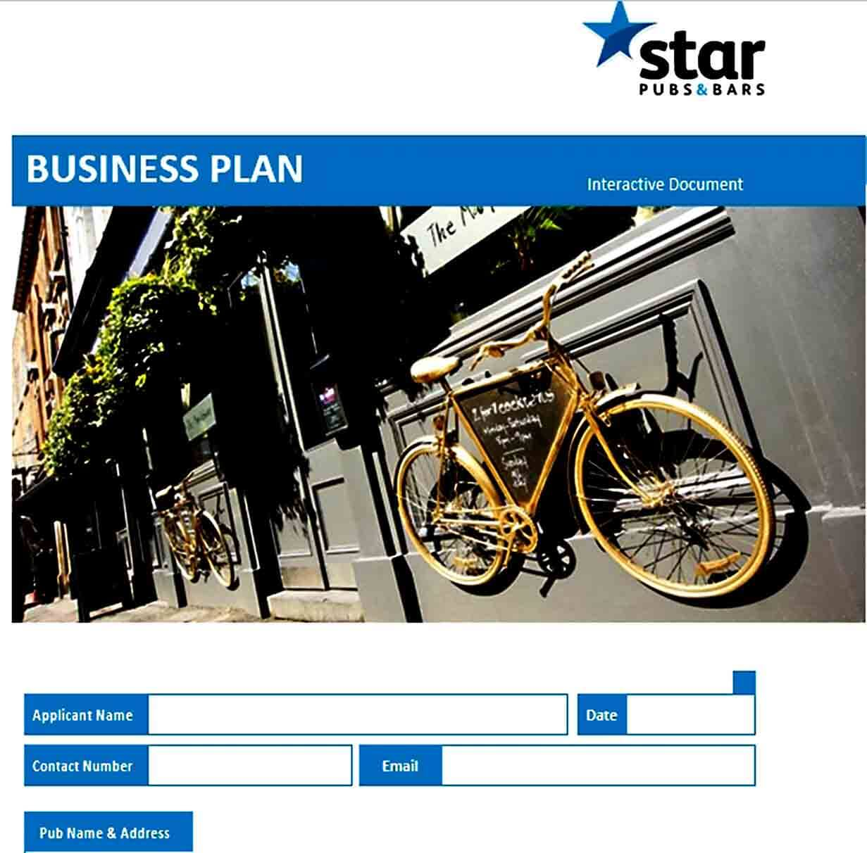 Templates Pubs Bars Business Plan Te