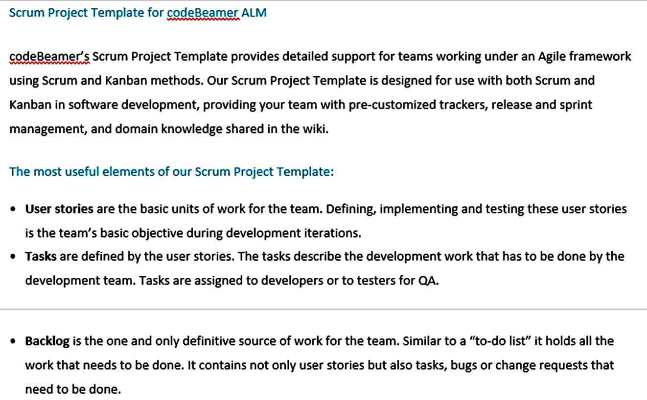 Templates Scrum Project Te