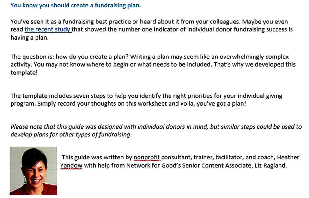 Templates Simple Fundraising Plan Te