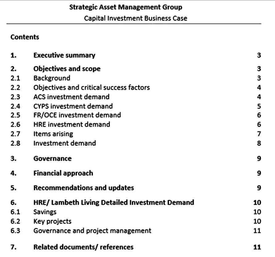 Templates Strategic Capital Investment Pr