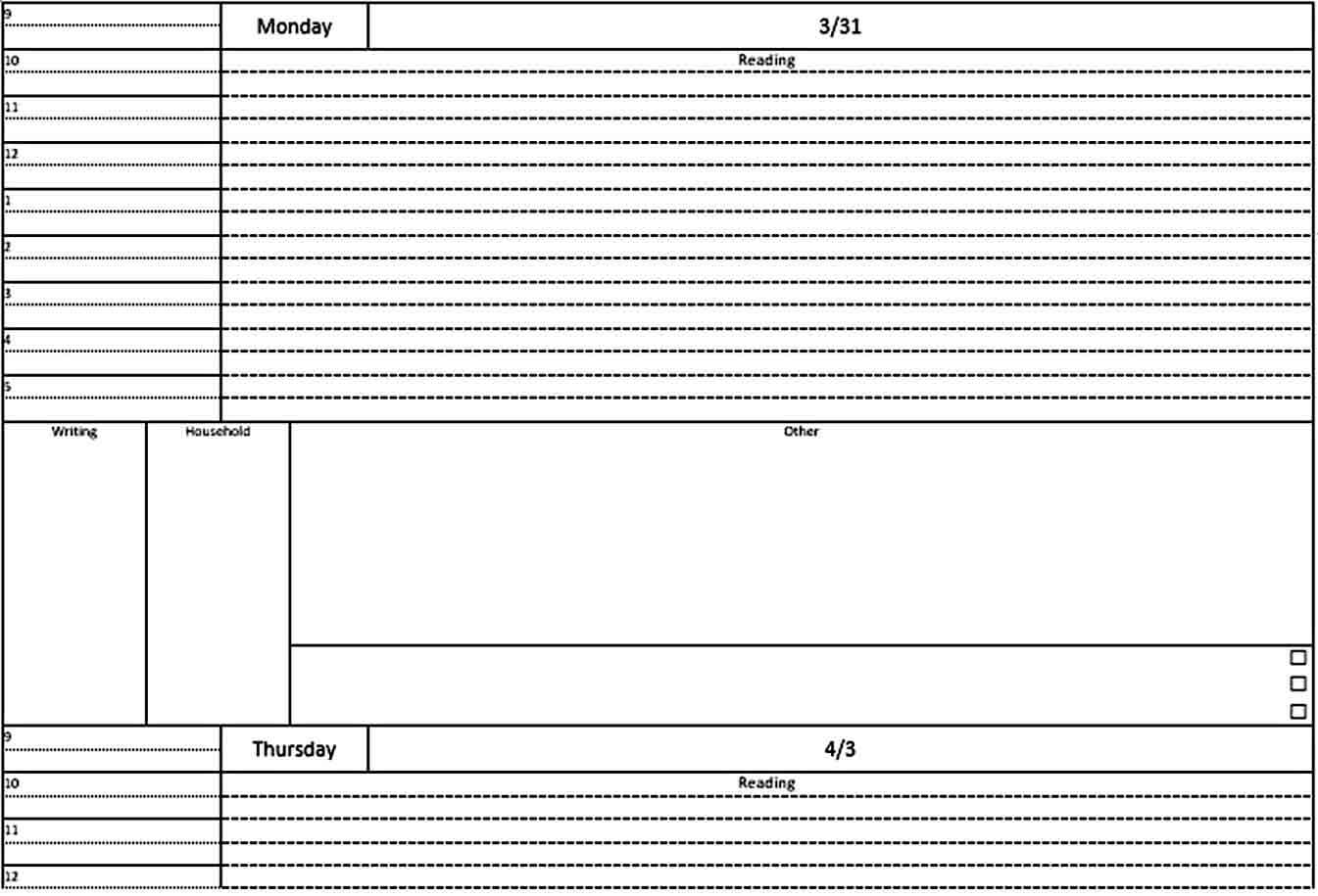 Templates Student Daily Planner Te