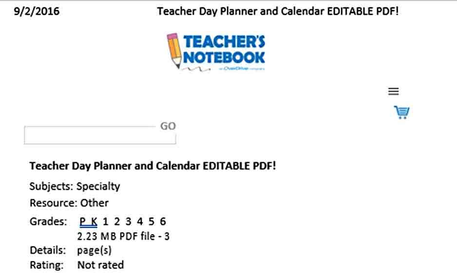 Templates Teacher Daily Planner Tem