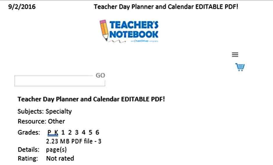Templates Teacher Daily Planner Tem