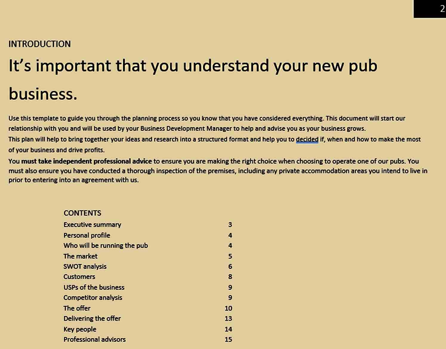 Templates Understanding Your Bar Busines