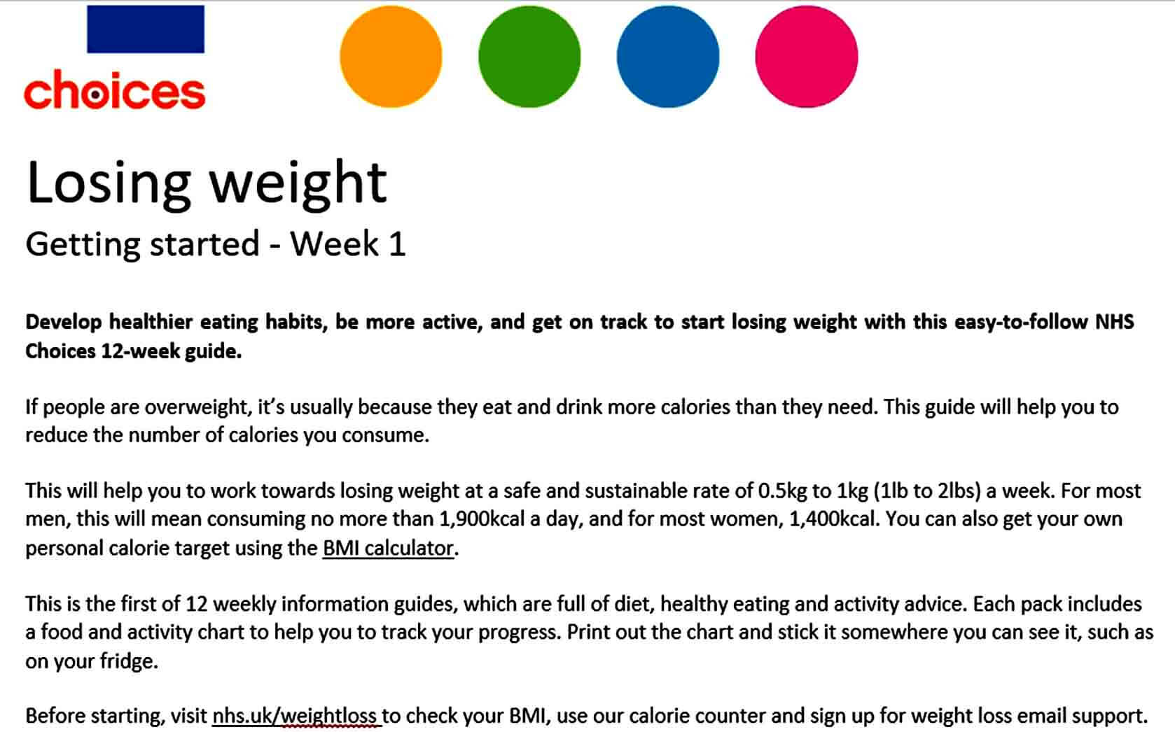 Templates Weight Loss Plan Tem