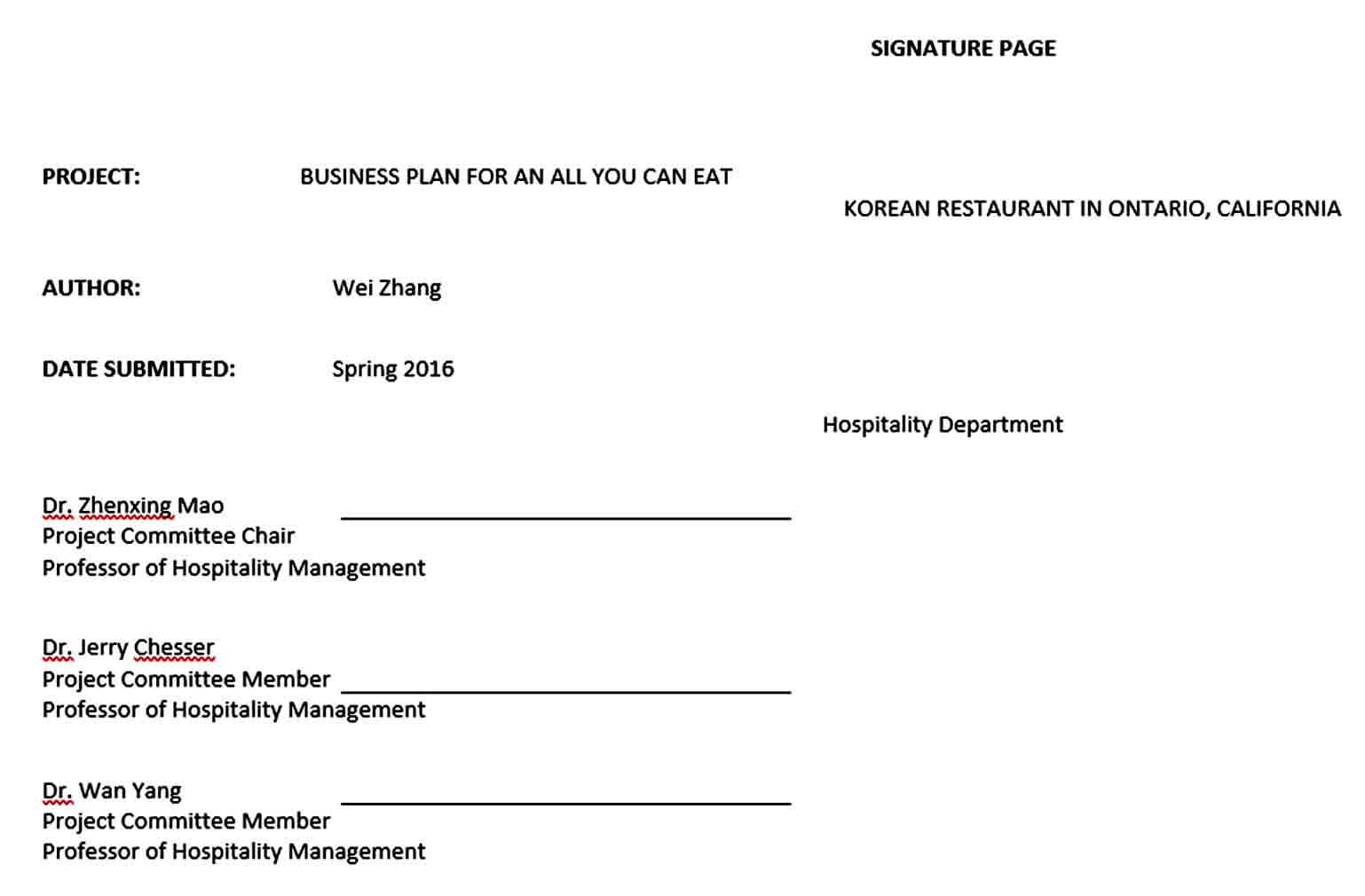 Templates all you can eat restaurant busines