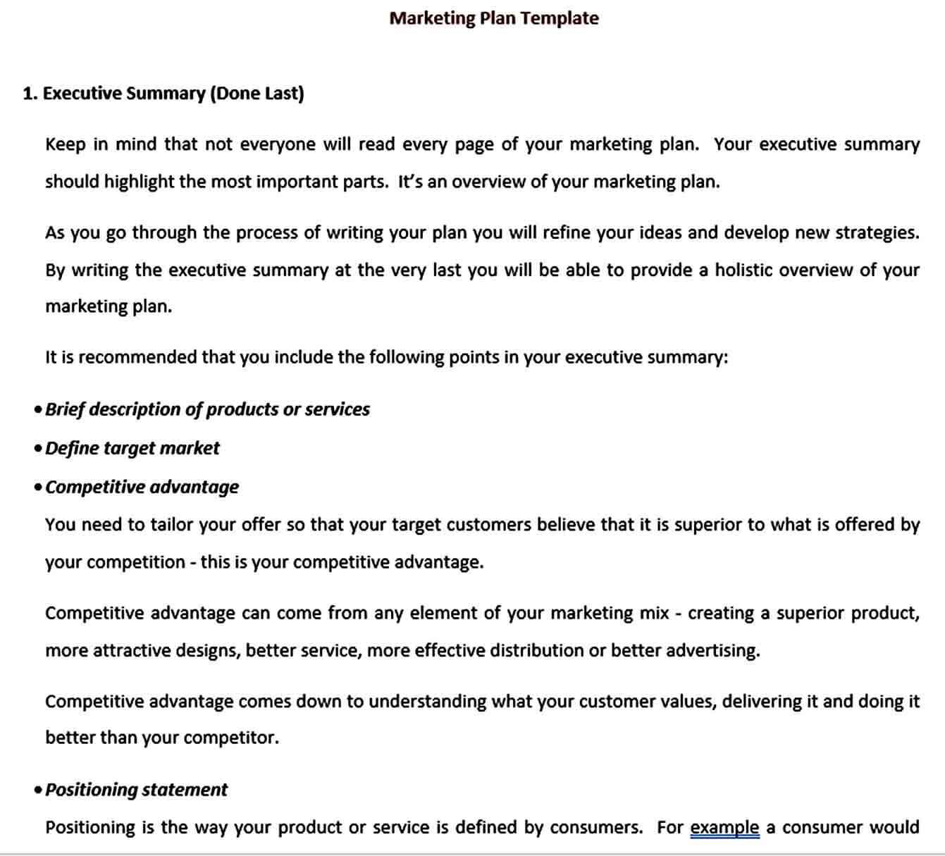 Templates best annual marketing plan te